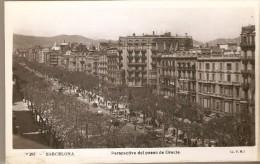 POSTAL DE BARCELONA DE UNA PERSPECTIVA DEL PASEO DE GRACIA (J.V.B.) ORIOL - Barcelona
