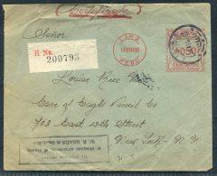 1939 Peru Lima Registered Grace & Co Franking Machine Cover -  Eagle Pencil Company New York USA - Peru