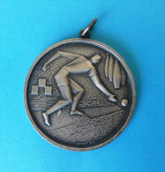 BOWLING MEDAL ( 1982 ) - Croatian Old Signed Medal * Bolos Boliche Bowls Sport - Bowling