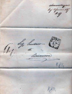 PIEGO POSTALE-CREMONA-20-1-1897-PREFETTO TONI-INIZIO CARRIERA-ANNULLO RIQUADRO DI CREMONA