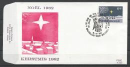 ENVELOPPE FDC (P 667)  TP N° 2067 (CACHET POSTAL DE BRUXELLES-BRUSSEL) - FDC