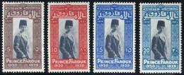 Egypt #155-58 Mint Hinged Prince Farouk Set From 1929 - Egypt