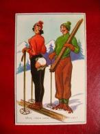 """CPA Sports D'Hiver - Ski - Humour - """"Mais Chère Amie, Vos Freins Sont Usés!"""" - Non Voyagée - Wintersport"""