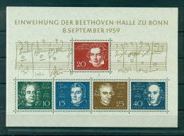 Allemagne -Germany 1959 - Michel feuillet n. 2 - Salle Beethoven
