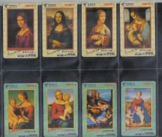 NICE SET OF 8 PHONECARDS - Malerei