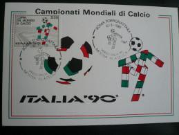 Italy Soccer-Calcio Lit. 3.150  CIAO To 1990 World Football Cup - Italia