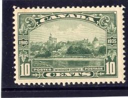 CANADA 1935 # 215,  KGV SILVER JUBILEE: WINDSOR CASTLE    M NH - Neufs