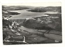 Cp, 58, Barrage De Pannecière, Vue Aériene Du Barrage, Voyagée 1953 - Francia