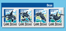 gb15424a Guinea Bissau 2015 Whale Orcas s/s