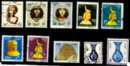 Egypte 10 Timbres Oblitérés - Egypte