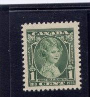 Canada, 1935, # 211,  MNH,    SILVER JUBILEE:  PRINCESS  ELIZABETH - 1911-1935 Règne De George V
