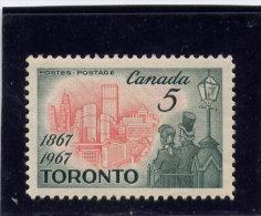 CANADA 1967, # 475, TORONTO CENTENARY, M NH  Single - 1952-.... Règne D'Elizabeth II