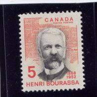 CANADA 1968, MINT, #485, HENRI BOURRASSA  & THE DEVOIR   MNH  Single - 1952-.... Règne D'Elizabeth II