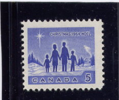 Canada, 1964, # 435i, MNH, STAR OF BETHLEHEM,  Fluorescent - 1952-.... Règne D'Elizabeth II