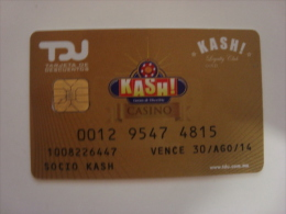 MEXICO - CASINO CARD - KASH - GOLD