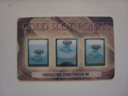 GREECE - CASINO CARD - GOLD SLOT POINTS
