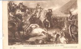 POSTAL    FRANCIA  -MUSEO DE VERSALLES  - PHILIPPOTEAUX  -BATAILLE DE RIVOLI  (14 JANVIER 1707 ) - Museos