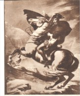 POSTAL    FRANCIA  -MUSEO DE VERSALLES  - J.L- DAVID  -LE PREMIER CONSUL FRANCHISSANT LE MONT SAINT-BERNARD (1800) - Museos