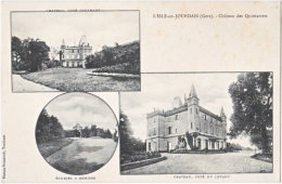 32. L'ISLE-EN-JOURDAIN. Château Des Quintarrets. 3 Vues - Otros Municipios