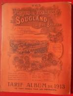 Catalogue 1913 Forges & Fonderies De SOUGLAND N°63 - Catalogues