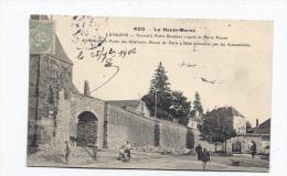 CPA 52 - LANGRES - Nouvelle Porte Boulière Et Pierre Neuve - TB PLAN Avec ANIMATION - Restes De Chantier - Oblitération - Langres