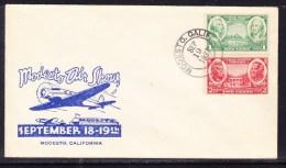 USA 1937 Modesto Air Show  Special Cachet  Flight  Cover - United States