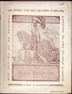 Brochure Eeuwfeest Belgie Onafhankelijkheid Stoet  Gulden Vlies Brugge 1930 - Dépliants Touristiques