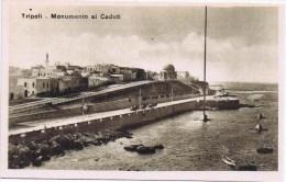 Cpa TRIPOLI Monumento Ai Caduti - Libye
