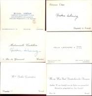 Visitekaartjes 6 Stuks - Uit Kortrijk - Visiting Cards