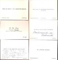 Visitekaartjes 6 Stuks - Uit Kortrijk - Cartes De Visite
