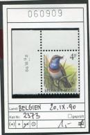 BUZIN - Belgien - Belgique -COB 2321 Avec Coin Daté  20.IX.90 - Michel 2373 - ** Mnh Neuf Postfris - Vögel Oiseaux Birds - 1985-.. Birds (Buzin)