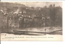 TULLE        Inondations Du 24 MARS 1912    Pêcheurs D'épaves Sur Le Pont De La Bascule,quai Baluze - Tulle