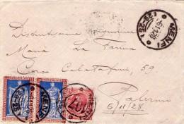 ITALIA  Storia Postale  E. Filiberto  Coppia Di Cent.20 + 10  Del  6 - 11 - 1928 - Italia
