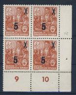 DDR Michel No. 436 g X I ** postfrisch Viererblock Eckrand
