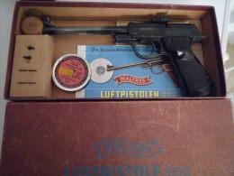 pistolet a plomb ancien walther mod 53 luftpistole en boite d'origine