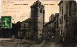 CHAMPLITTE ,EGLISE,PERSONNAGES  REF 43534 - Francia