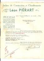 CUESMES LEZ MONS  LEON PIERART  Ateliers De Construction Et Chaudronnerie   Materiel  De Chemin De Fer ... 20.07.1942 - 1900 – 1949