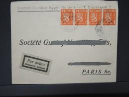 FINLANDE- Enveloppe De Helsinki Pour Paris En 1930  Par Avion    Lot P4945