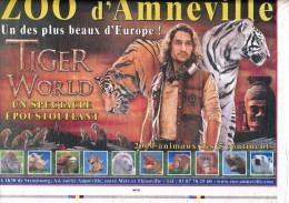 Lot Page Zoo Amneville Theme Tigre Elephant Girafe - Livres, BD, Revues