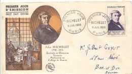 ENVELOPPE 1er JOUR  MICHELET   1953 - 1950-1959