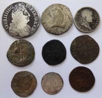 LOT DE 9 MONNAIES A DEFINIR - 987-1789 Monete Reali