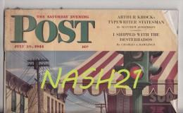 Revue ' The Saturday Evening  POST ' Du 29 Juillet 1944 -  92 Pages  - - Histoire