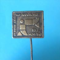 IV INTERNATIONAL YUGOSLAVIAN JUDO CUP 1983. - Vintage Pin Badge Anstecknadel Distintivo - Judo
