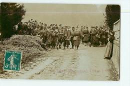 SERY MAGNEVAL - Carte Photo - Militaria - Passage Des Troupes En Manoeuvre - 2 Scans - Manovre