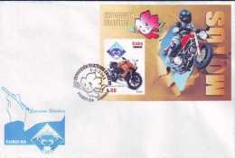 2009-FDC-23 CUBA FDC COMPLETE SET 2009 MNH MOTOS MOTORCICLE. CHINA PHILATELIC EXPO. DUCAT. HONDA. KAWASAKI. GUSSI. - FDC