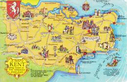 Reino Unido--Kent--1955--A Map--Cinque Ports-Baloon--a, Paris, Francia - Mapas