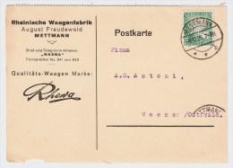 """DR, 1925, Perfin """" R.W.F """"  Freudenwald    #1520 - Deutschland"""