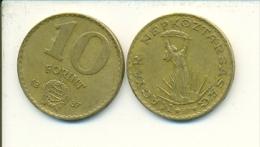 4-1480. Moneda Hungria. 10 Forint 1987. BC - Hungría