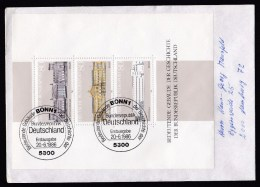 Germany: Cover, 1986, With Mini Sheet  & First Day Cancel, Historical Buildings (traces Of Use) - Brieven En Documenten