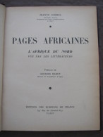 1938 PAGES AFRICAINES AFRIQUE DU NORD ALGER JEANNE SORREL ALGERIE CONSTANTINE TUNIS CARTHAGE TIMGAD RABAT SFAX FEZ - Livres, BD, Revues